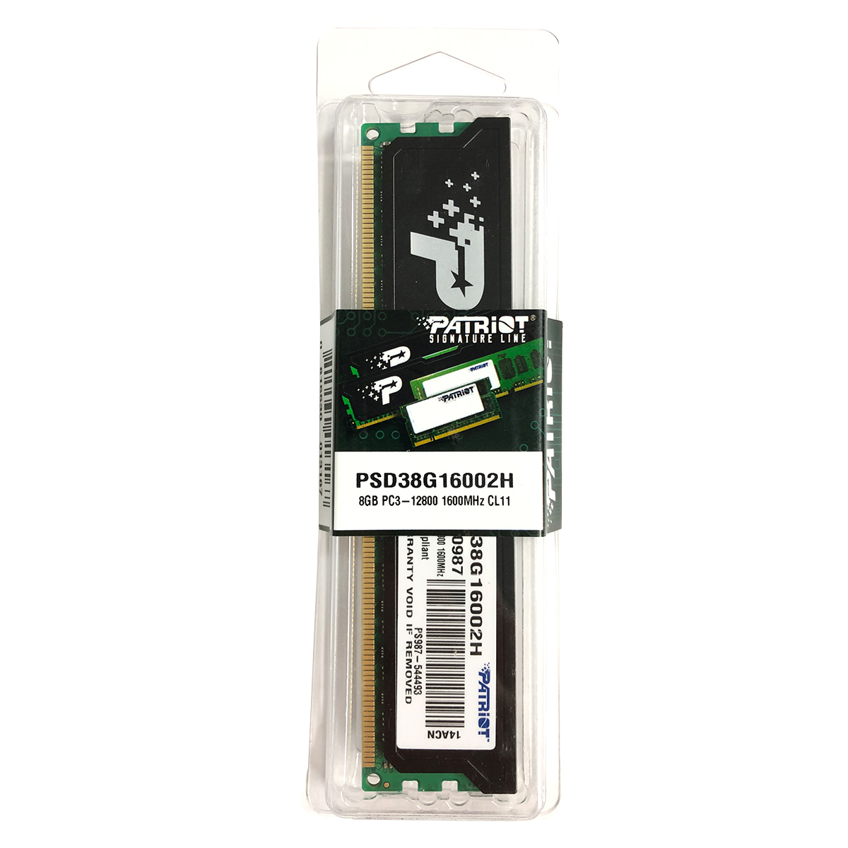 Memória Patriot Signature Line 8GB DDR3 1600MHz CL11 PSD38G16002H