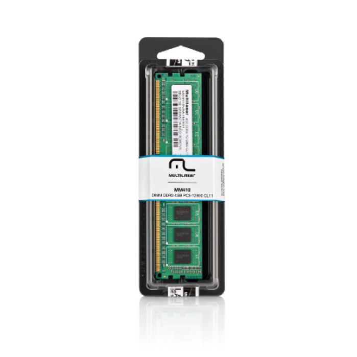 Memória Ram 4GB DDR3 1600Mhz Multilaser PC3-12800 MM410