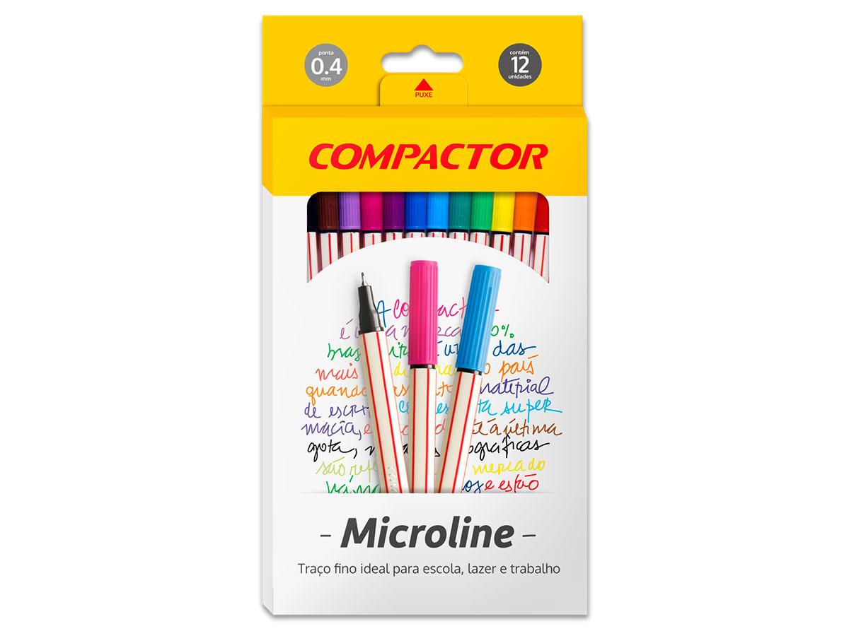 Microline 0.4 mm, Embalagem Com 12 Cores, Compactor