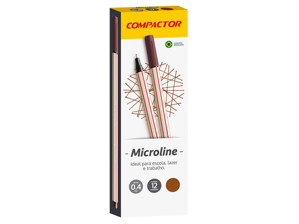 Microline 0.4 mm Marrom, Caixa C/ 12 Unidades, Compactor