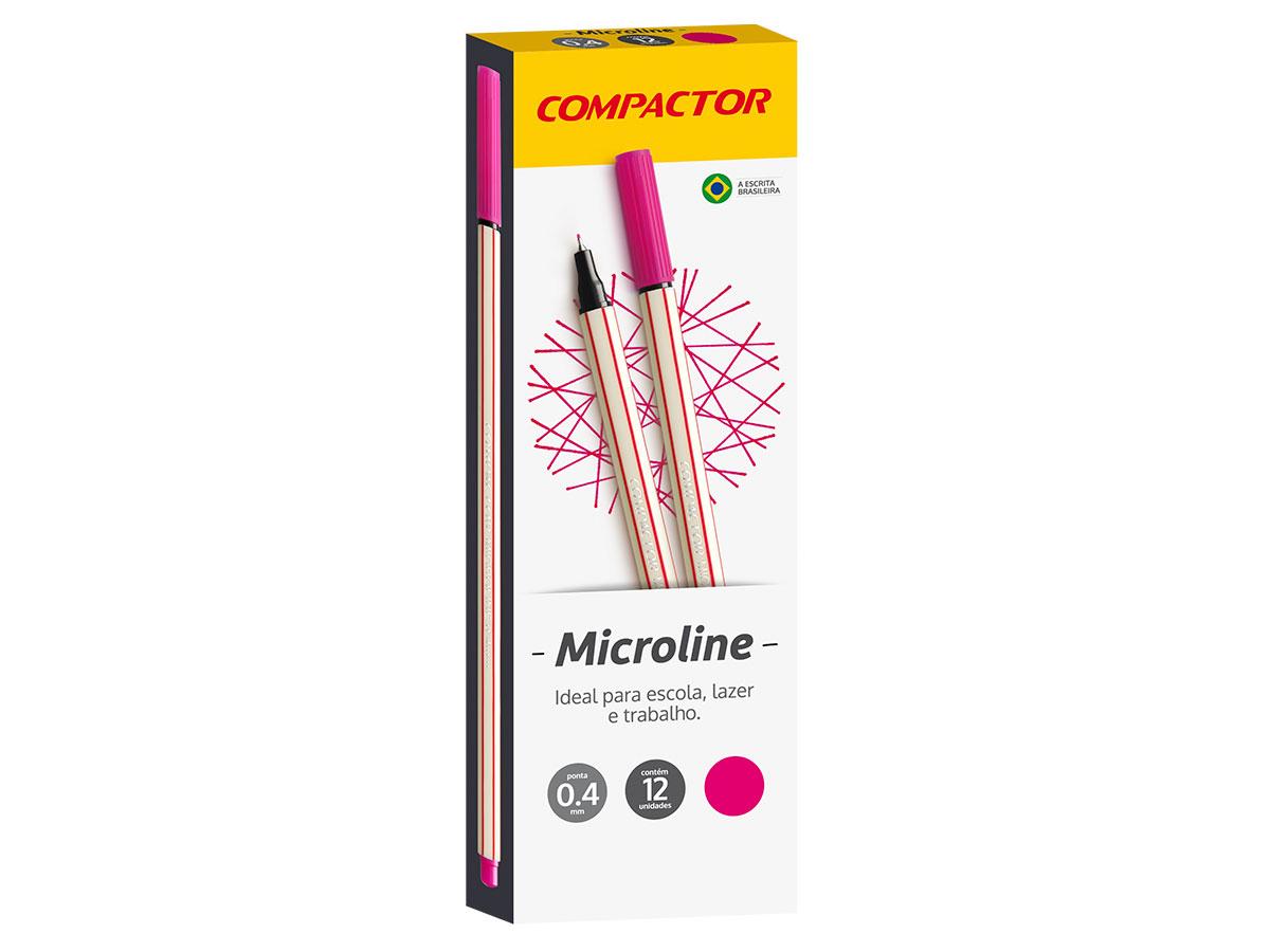 Microline 0.4 mm Rosa, Caixa C/ 12 Unidades, Compactor