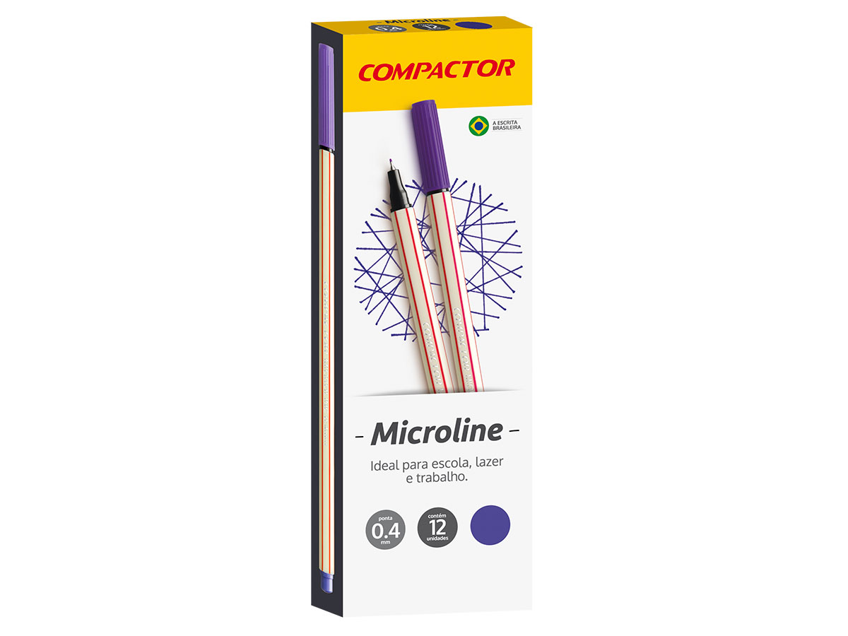 Microline 0.4 mm Violeta, Caixa C/ 12 Unidades, Compactor
