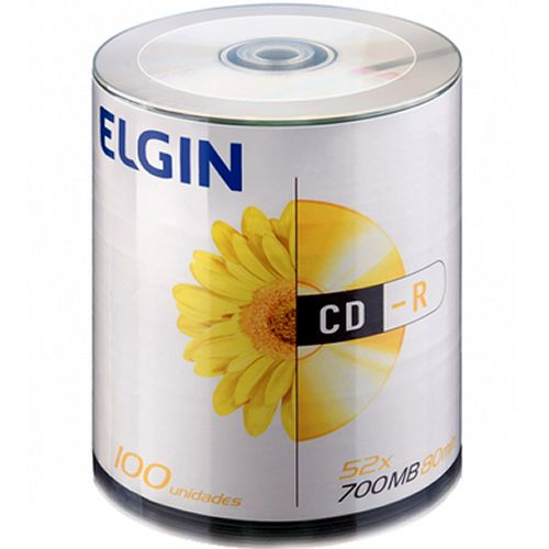 Mídia  CD-R Elgin 700MB 52x Sleeve com 100 82040