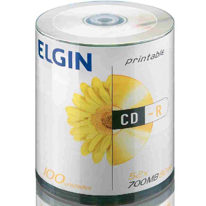 Mídia CD-R Pino 100 Printable 82045 Elgin