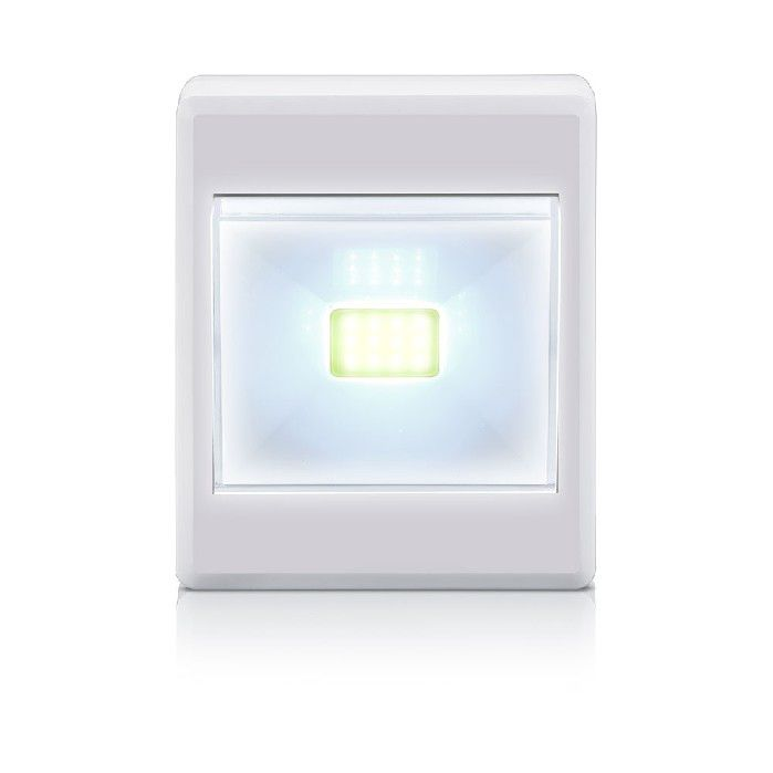Mini Luminária Led Button, 3W 6500K, Elgin - Branca - 48LEDBOT0000