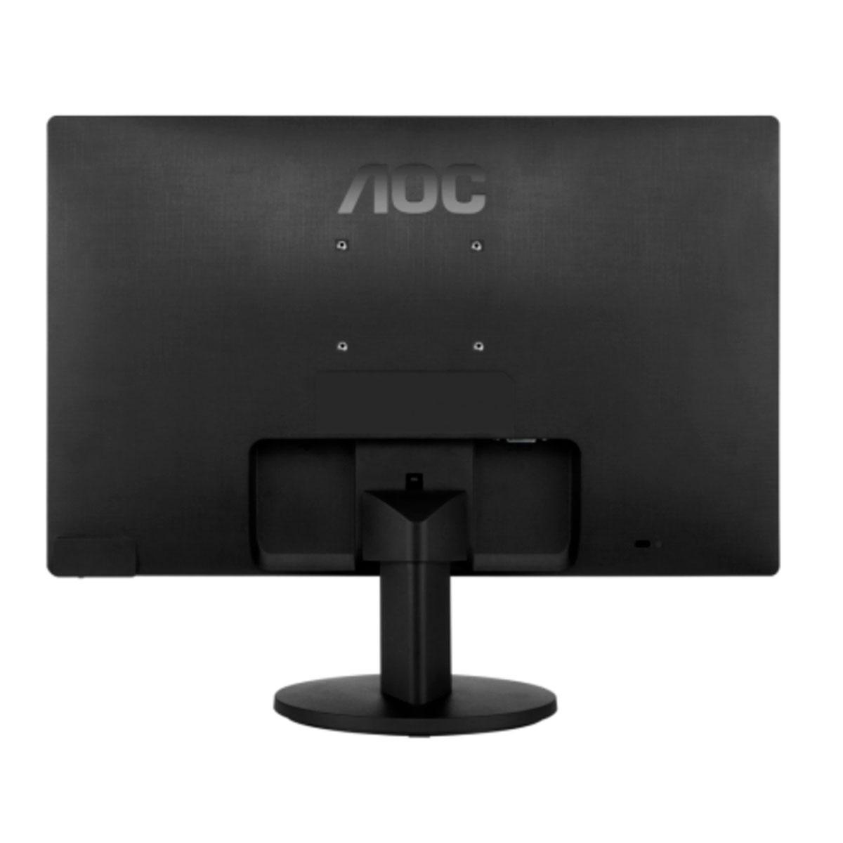 """Monitor AOC 15.6"""" Widescreen, LED, HD (1366 x 768), VGA, Preto, Vesa - E1670SWU/WM"""