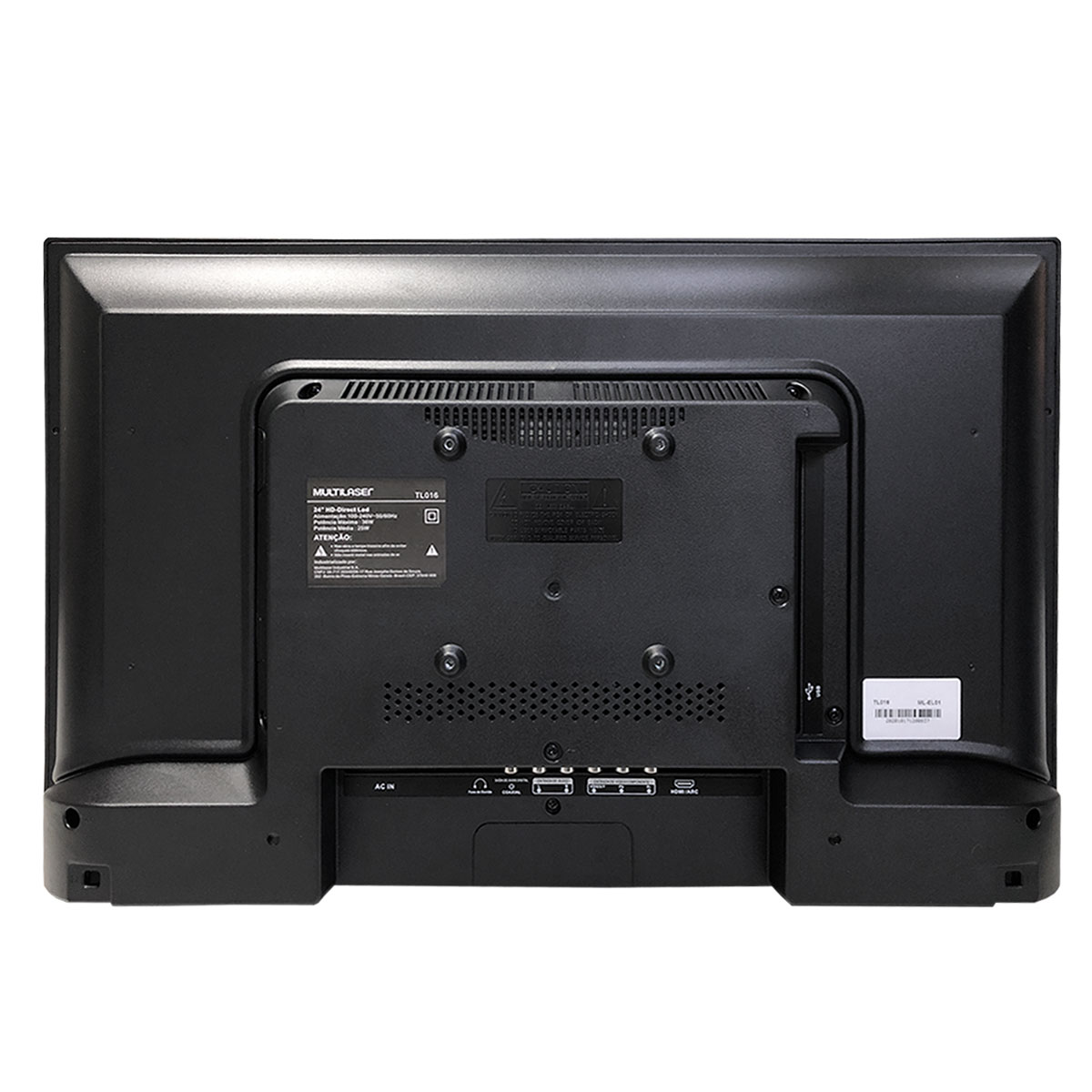 """Monitor Multilaser TL016 24"""" HD (1366x768), Entradas USB/HDMI, Bivolt, Gravador/Conversor Digital"""