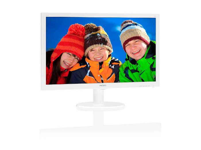 "Monitor Philips 21.5"" Branco LED 223V5LHSW2/57 HDMI Full Vesa VGA Ppb"