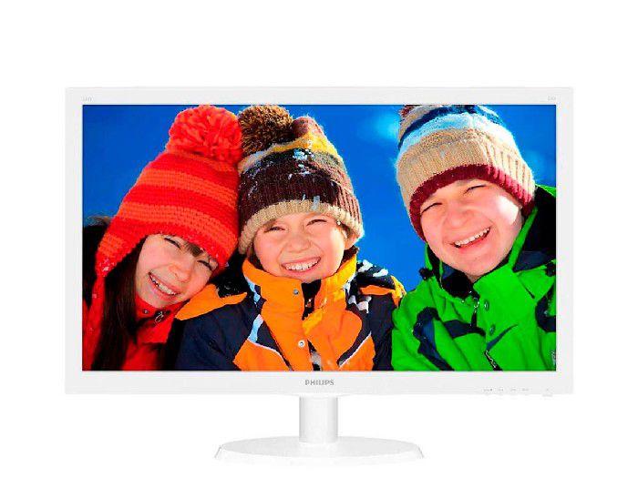 "Monitor Philips 21.5"" Branco LED 223V5LHSW/57 HDMI Full HD Vesa VGA"