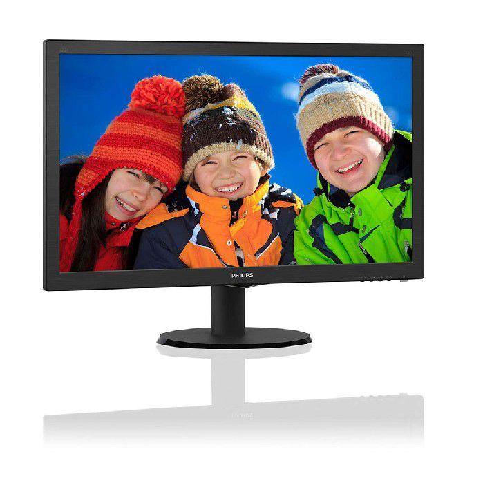"""Monitor Philips 21.5"""" Led 223v5lhsb2 Rgb/hdmi Full Hd"""