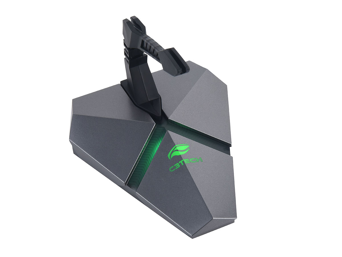 Mouse Bungee Gamer C3Tech MB-200SI, HUB USB 2.0, Leitor MicroSD, LED Multicores
