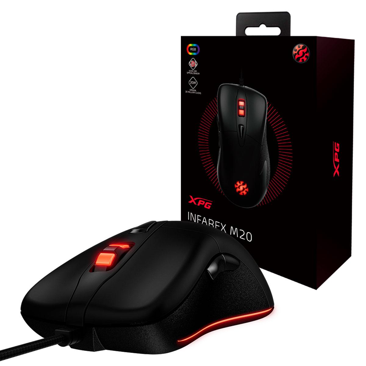 Mouse Gamer Adata XPG Infarex M20, 5000 DPI, RGB - Preto