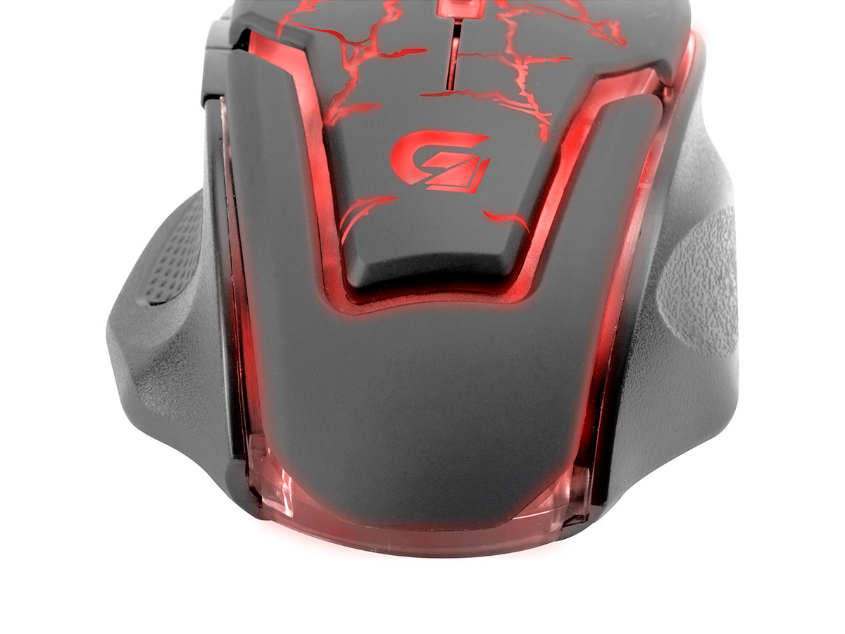 Mouse Gamer Fortrek Spider 2 OM705, USB, 3200 DPI, Preto e Vermelho - 60838