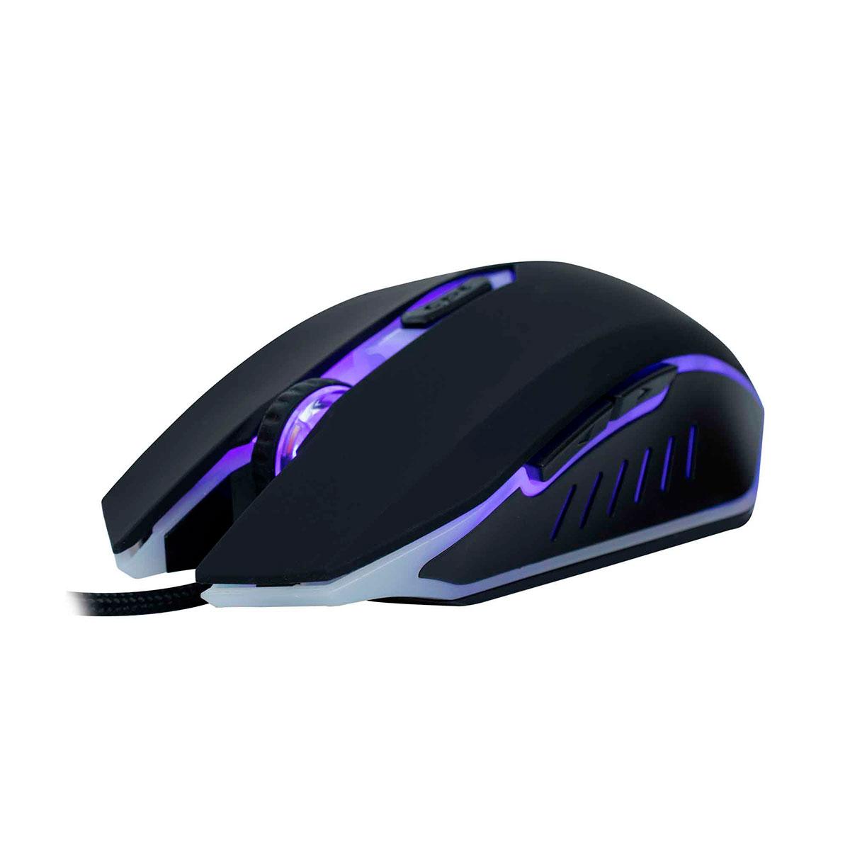 Mouse Gamer OEX Action Reloaded MS300, 3200DPI, 6 Botões, Luz de LED 7 Cores, USB
