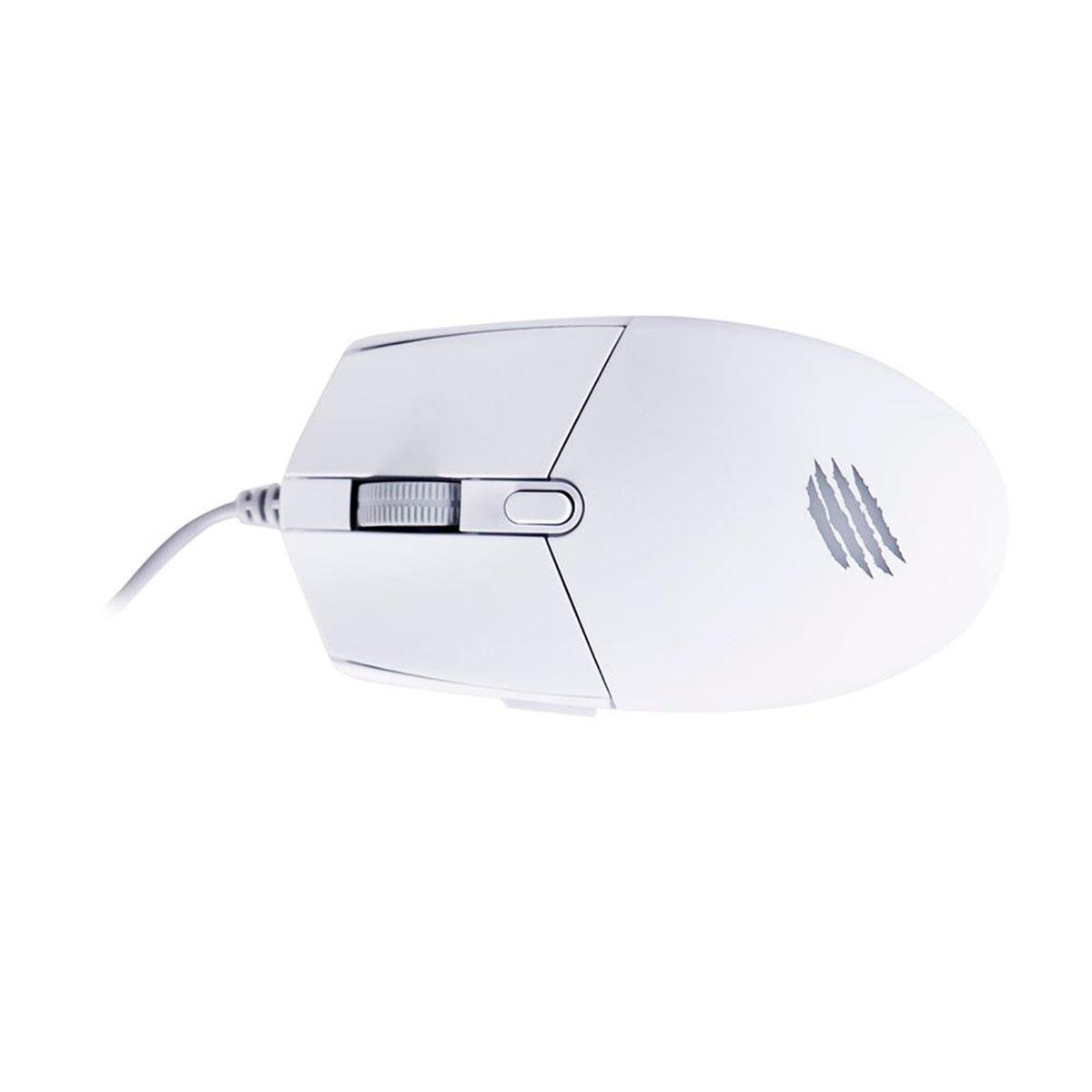 Mouse Gamer OEX Orium MS323, USB, 3200 DPI, LED Rainbow, 6 Botões, Branco