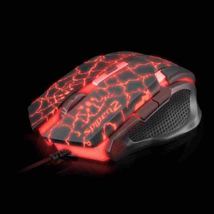 Mouse Gamer USB Spider 2 OM-705 Preto/Vermelho Fortrek