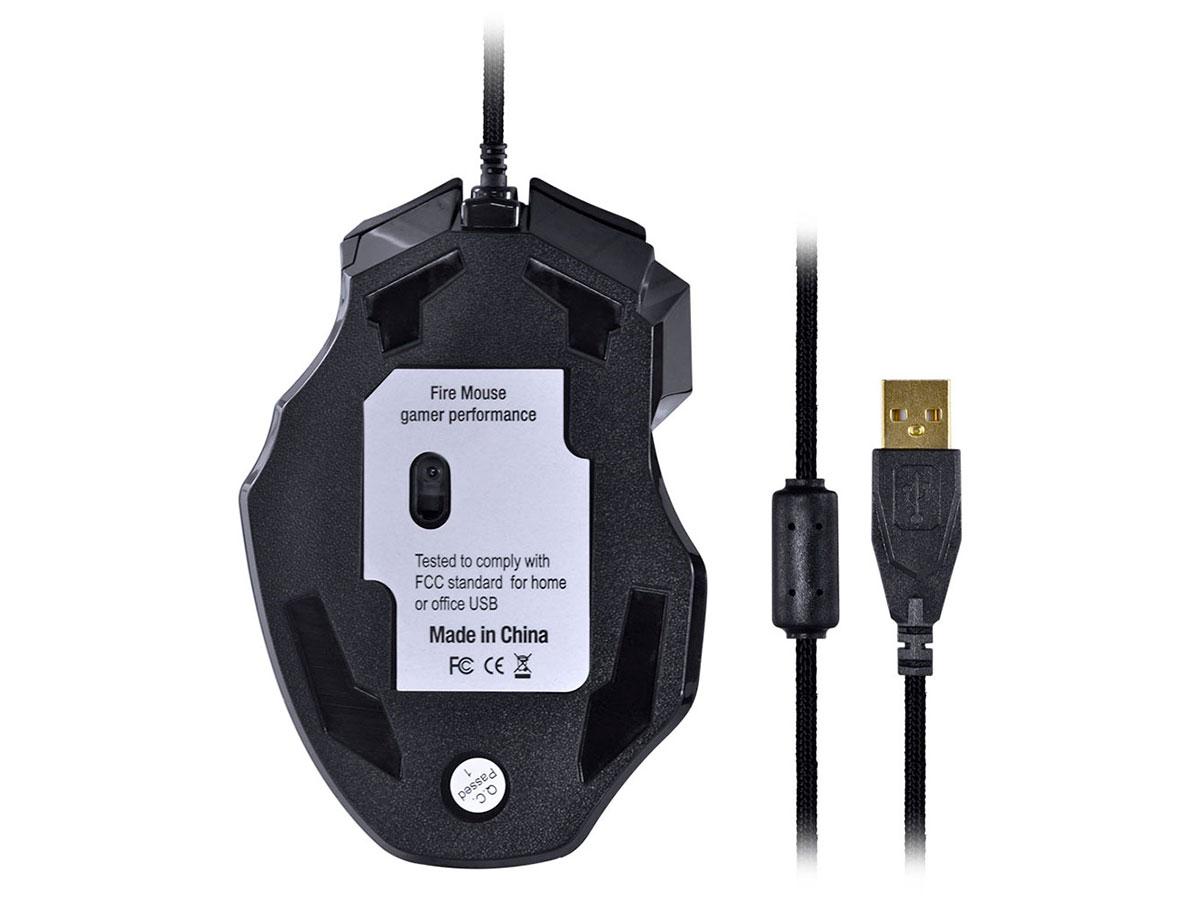 Mouse Gamer Vinik Black Widow 2400DPI Pt/Vd GM106 28430