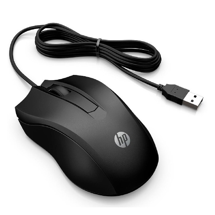 Mouse HP 100 USB 1600DPI Preto