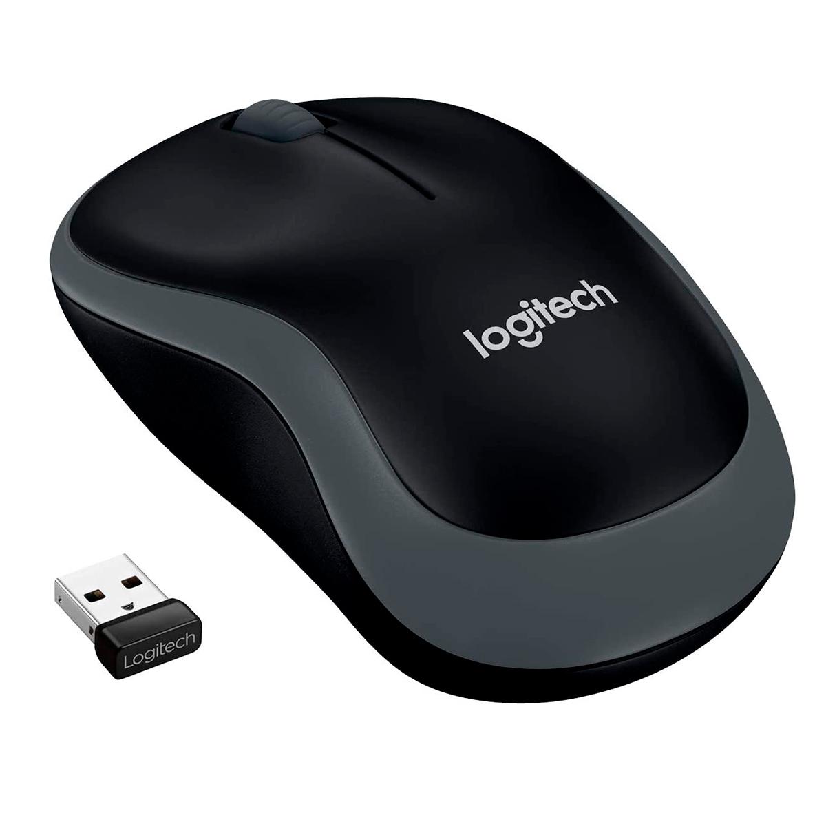 Mouse Logitech M185 Wireless Cinza 1000DPI 2.4GHz
