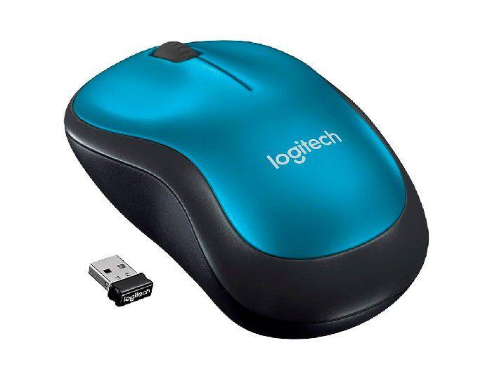 Mouse Logitech Wireless M185 Azul