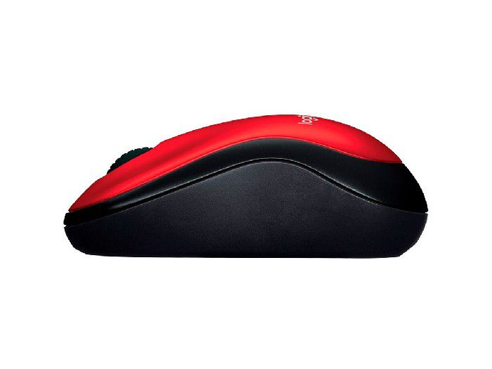 Mouse Logitech Wireless M185 Vermelho
