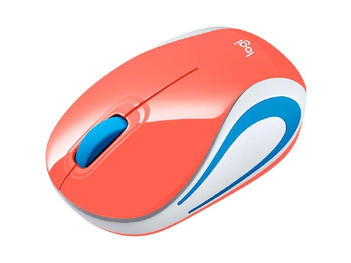 Mouse Logitech Wireless M187 Coral