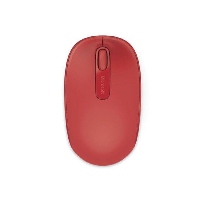 Mouse Microsoft Wireless 1850 3 Botoes Vermelho - U7z-00038