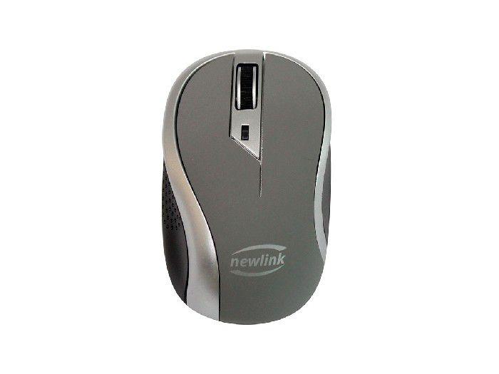 Mouse Newlink Wave MO112, Wireless, 1600DPI, Cinza