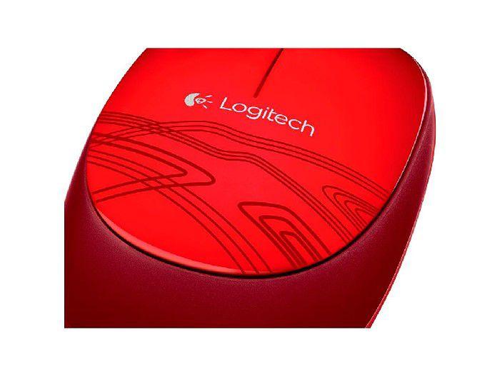 Mouse Óptico USB Logitech M105 Vermelho