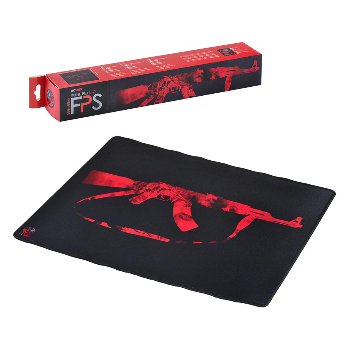 Mouse Pad Gamer PCYes FPS AK47, Antiderrapante, Estilo Speed, 500x400x3mm - 34676