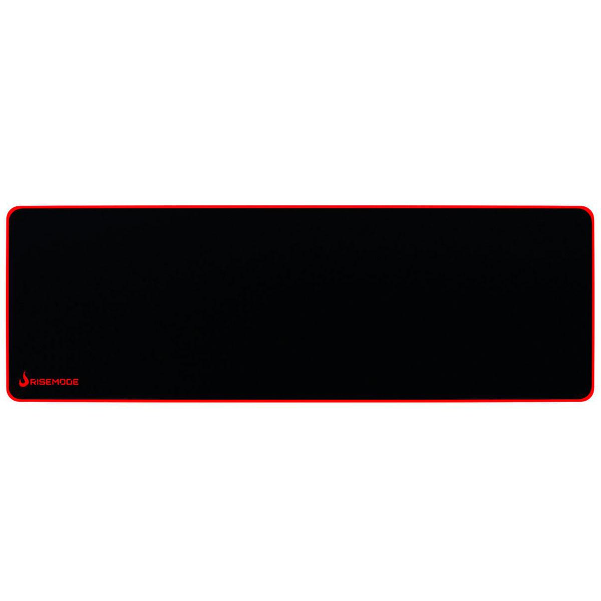 Mouse Pad Gamer Rise Mode Zero Costura Vermelha - Extendido RG-MP-06-ZR