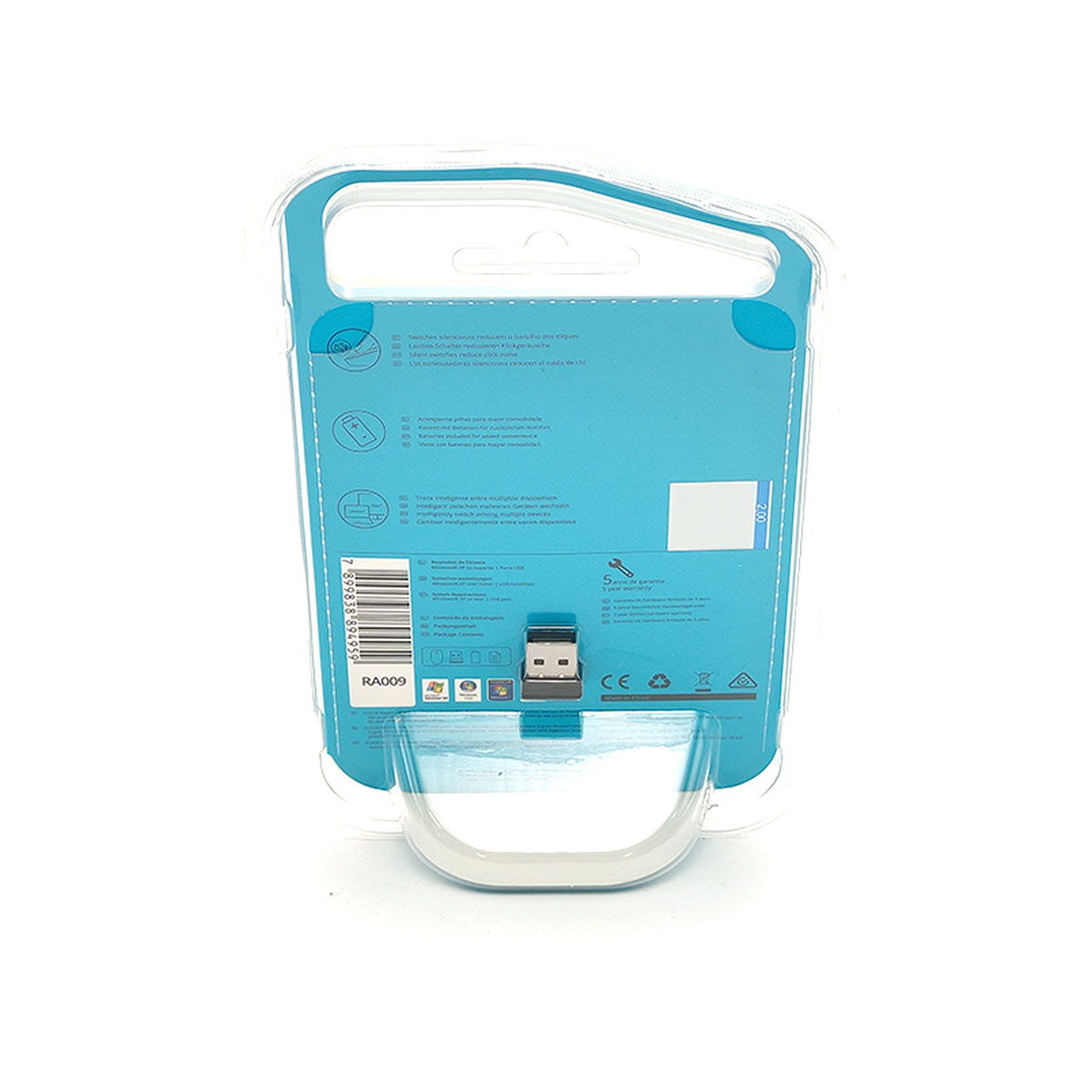 Mouse Rapoo M100 Silent, Wireless 2.4 GHz, Bluetooth, 1000 DPI, Clique Silencioso, Preto - RA009