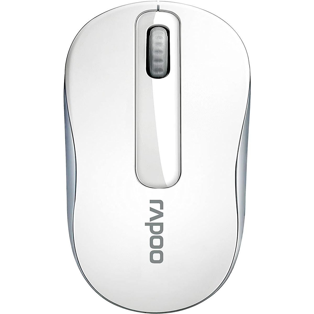 Mouse Rapoo M10 Plus, Wireless 2.4 GHz, 1000 DPI, Branco - RA008