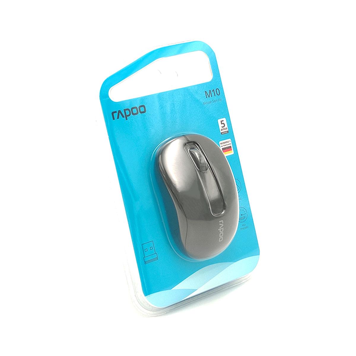 Mouse Rapoo M10 Plus, Wireless 2.4 GHz, 1000 DPI, Preto - RA007