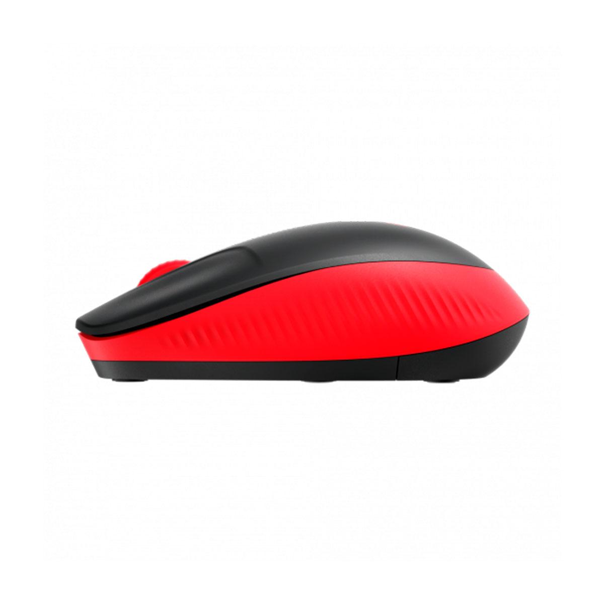 Mouse Wireless Logitech M190, 1000DPI, Preto e Vermelho