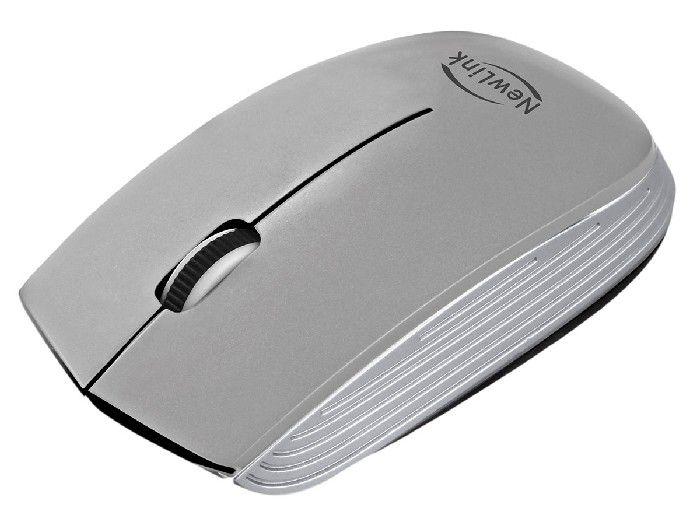 Mouse Wireless Newlink Optimus Prata MO222