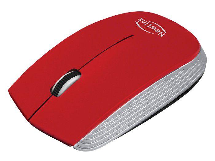 Mouse Wireless Newlink Optimus Vermelho/prata MO221NL