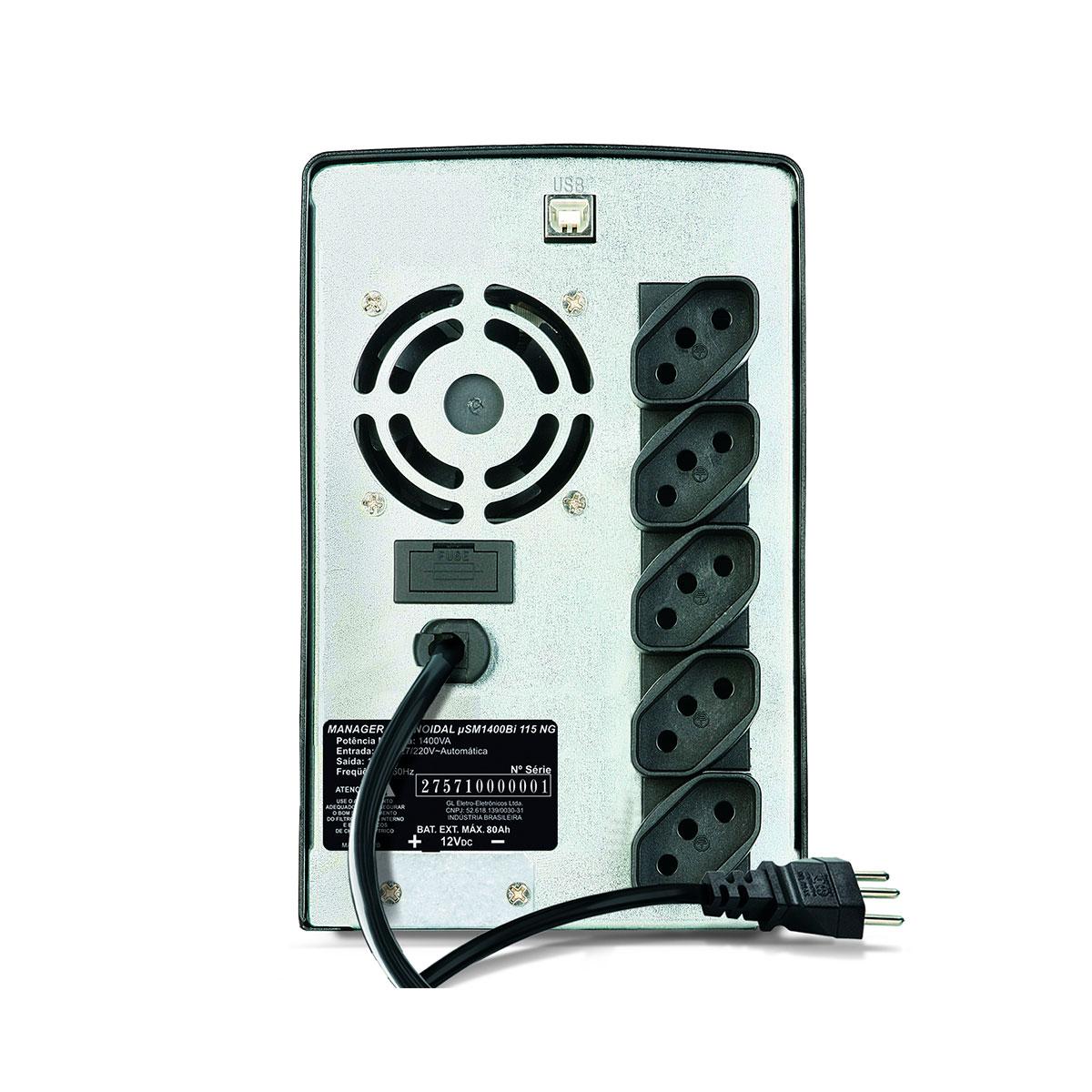 Nobreak 1500VA SMS Manager III Entrada Bivolt Saída 115V Senoidal Puro, Eng. Bateria Externa- 27572