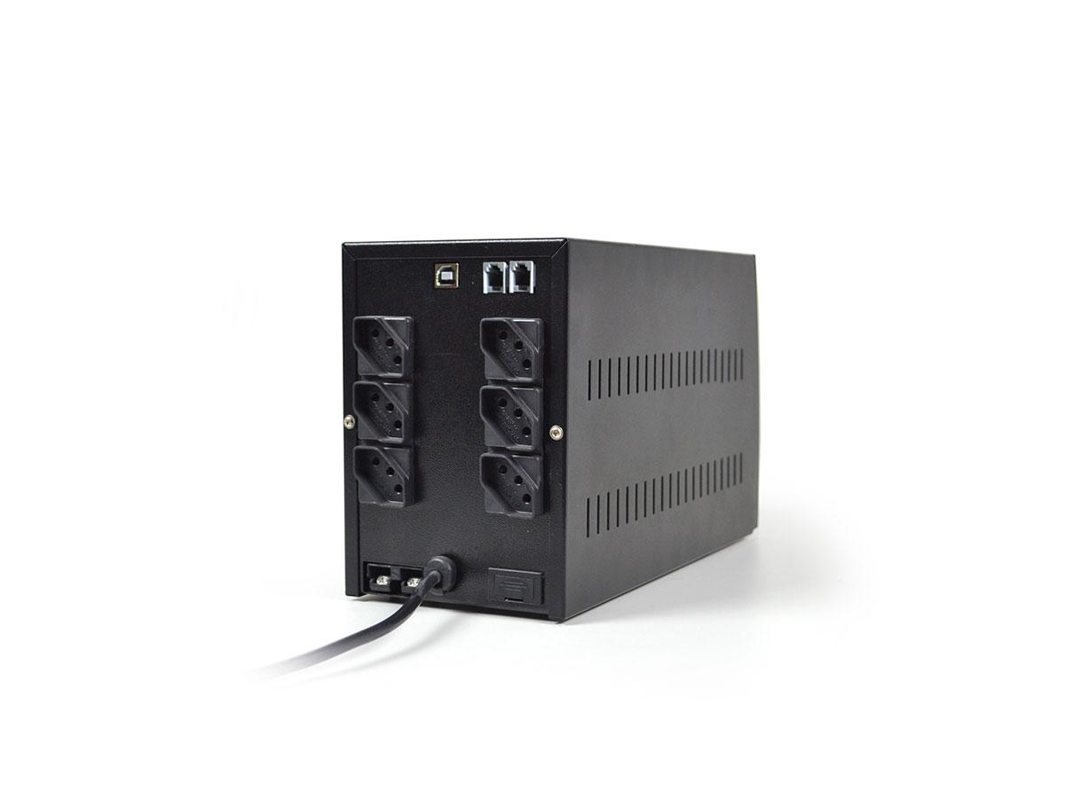Nobreak Ts Shara 1400VA Biv COMPACT PRO 1BS/1BA Universal Auto 6T Saída 115V e 220V 1 Exp. 7A/45A