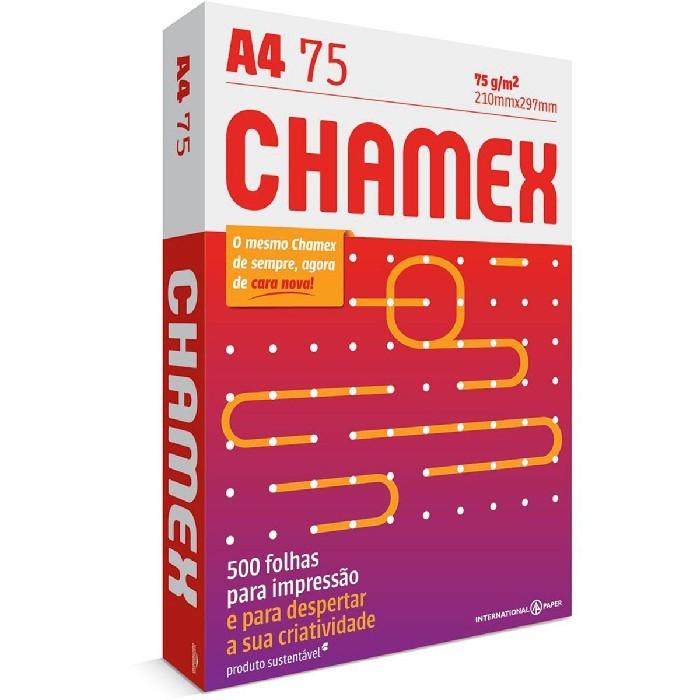 Papel Sulfite Chamex A4 (210x297) 75gr Caixa C/10 Resmas 500 Folhas