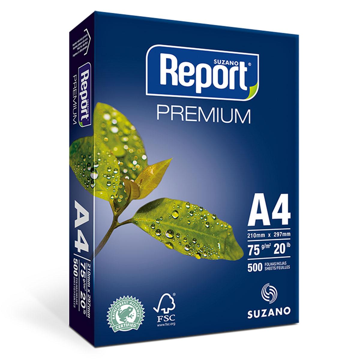 Papel Sulfite Report A4 (210x297) 75gr Caixa C/10 Resmas 500 Folhas - 20061684