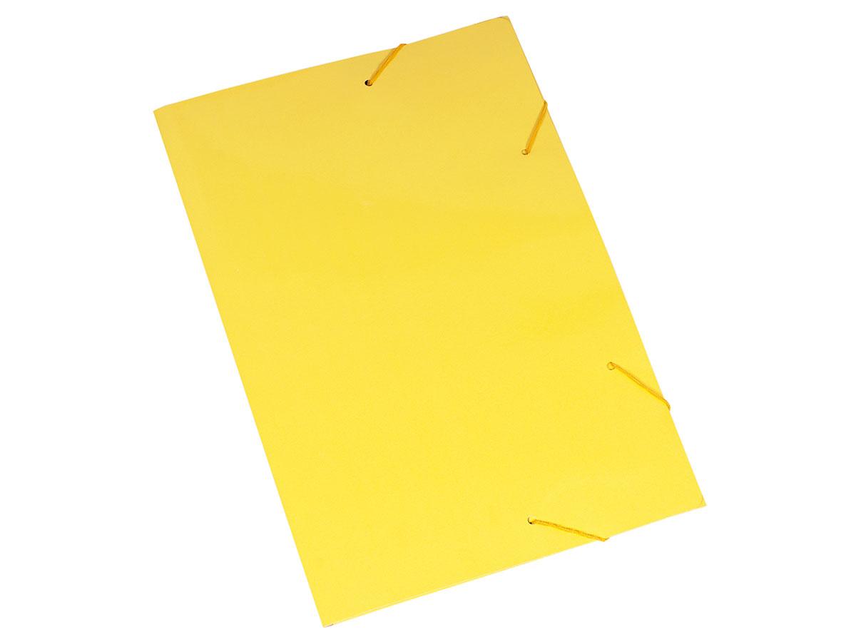 Pasta Cartão Duplex, Com Abas e Elástico, Pacote Com 20 Unidades, Polycart - Amarelo - 2004AM