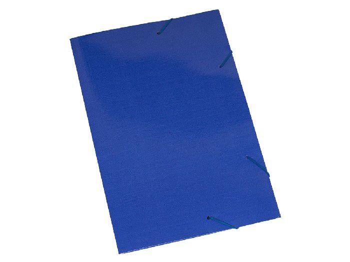 Pasta Cartão Duplex, Com Abas e Elástico, Pacote Com 20 Unidades, Polycart - Azul Escuro - 2004AE