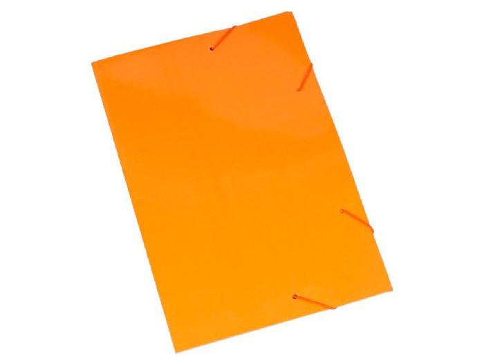 Pasta Cartão Duplex, Com Abas e Elástico, Pacote Com 20 Unidades, Polycart - Laranja - 2004LR