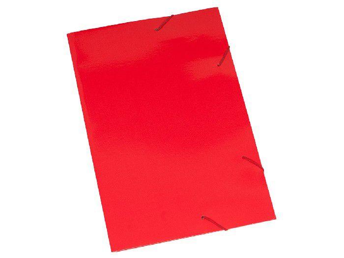 Pasta Cartão Duplex, Com Abas e Elástico, Pacote Com 20 Unidades, Polycart - Vermelho - 2004VM