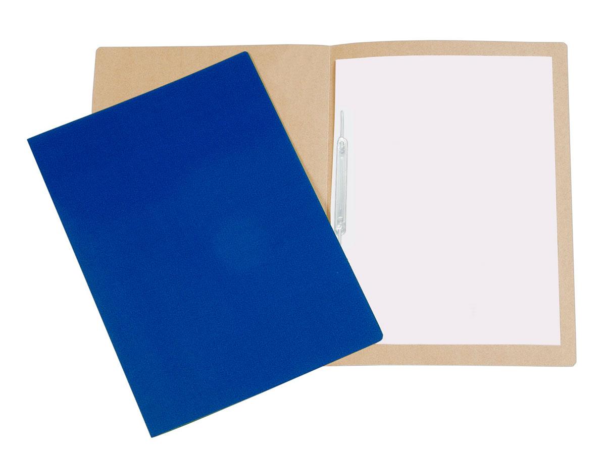 Pasta Cartão Duplex, Com Grampo Plástico, Pacote Com 20 Unidades, Polycart - Azul Escuro - 1026AE