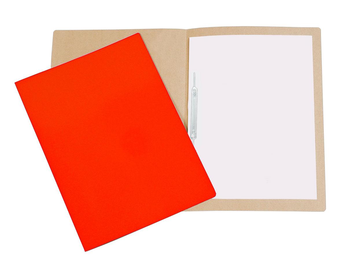 Pasta Cartão Duplex, Com Grampo Plástico, Pacote Com 20 Unidades, Polycart - Vermelho - 1026VM