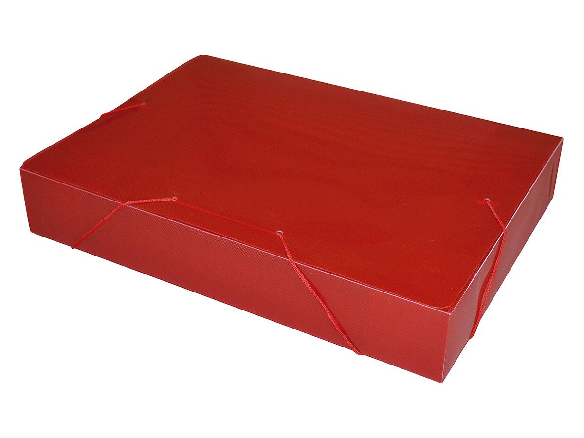 Pasta Com Aba e Elástico Ofício 55 mm Pacote Com 10 Unidades ACP - Vermelha - 1025VM