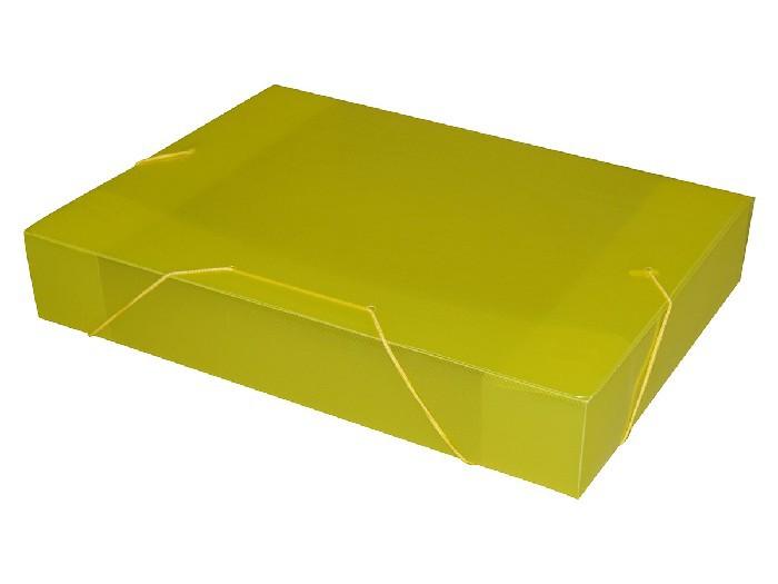 Pasta Com Aba e Elástico Ofício 55mm Amarelo, Pacote c/ 10 Unidades - ACP - 1025AM