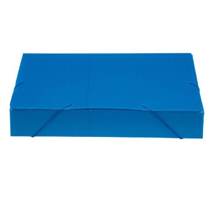 Pasta Polionda  55mm Pacote Com 10 Unidades Polibras - Azul - 204/09